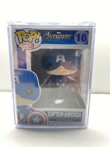 """NEW"" POP FUNKO MARVEL AVENGERS CAPTAIN AMERICA #10 + PROTECTOR (VAULTED)"