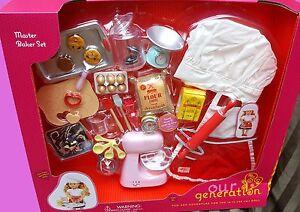 "New Our Generation American Girl 18"" Doll Bakery Baker Café Kitchen Mixer Set"
