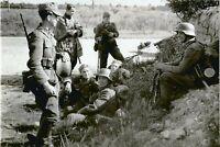 WW II - German  Photo --    Soldier On Side Of Road