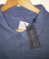NEW John Varvatos Polo Shirt Men's Sz Medium Storm Blue