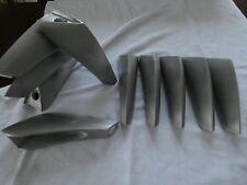 10-pc Design piedi MOBILE massiccio OPACO IN METALLO ALLUMINIO 14cm