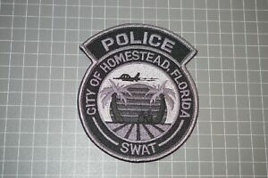 City Of Homestead Florida Police SWAT Patch (B17-A7)
