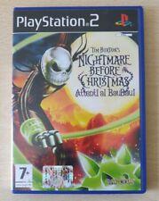PS2 TIM BURTON'S NIGHTMARE BEFORE CHRISTMAS ITALIANO PLAYSTATION 2 COMPLETO