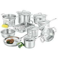 SCANPAN IMPACT 18/10 STAINLESS STEEL 10 PIECE COOKWARE SET RRP$1100