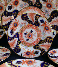 ROYAL CROWN DERBY  BATTERSEA IMARI  (c.1937) BREAD PLATE- SCALLOPED!! MINT!!