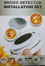 2X Detector de Humo Soporte Magnético Imán Montaje Set 3M Soporte