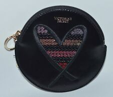 VICTORIA'S SECRET HEART SEQUIN POUCH BEAUTY BAG ORGANIZER KEYCHAIN COIN PURSE