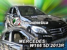 Deflettori Aria Antiturbo Oscurati Mercedes Classe M W166 ML 11 anteriori+poster