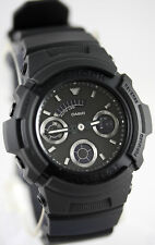 Casio AW591BB-1A G-Shock Men's Matte Black Watch Analog Digital World Time