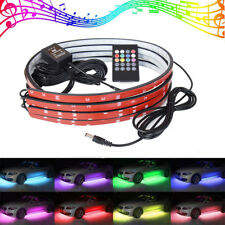 "35"" & 24"" RGB LED Strip Under Car Tube Underglow Underbody System Neon Light Kit"