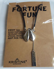 Fortune Cookie Necklace With Special Message Good Luck Locket Pendant LIVE laugh