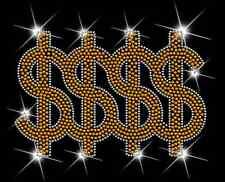 Money Symbol Bling Sequins No rhinestones transfer Iron On Hot fix applique