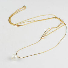 Pearl Alloy Chain Fashion Necklaces & Pendants