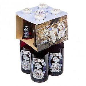 Pack de 4 x 200 ml Maeloc sidra con mora o pera a 2,95€/pack. Tengo bastantes un