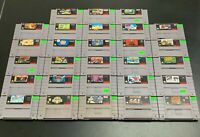 Lot Of 28 SNES Games Super Nintendo Game Bundle