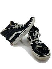 VANS MEN'S Sz 7 Ward High Profile Sneaker BlK w/White Stripe - Canvas/Suede