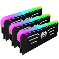 256 RGB Light PC Memory RAM Cooling Vest Heat Sink Anode Aluminum Cooler Kit  ↑