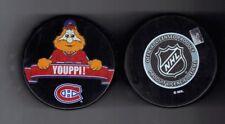 Youppi Montreal Canadiens NHL Mascot Souvenir Hockey Puck Inglasco