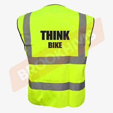Cycling Hi Viz Vis Cycle Waistcoat Vest Tabard Road Safety Reflective Bike Rider 3xl Think Bike