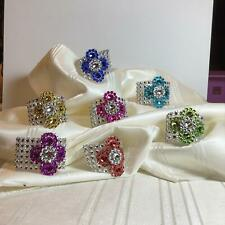 Floral Decorative Bling Napkin Rings, Set of 25