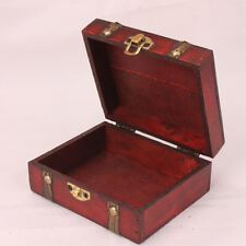 Retro Wood Jewelry Case Storage Decorative Classic Box Carving Container Holder