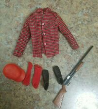 Vintage Ken Doll Goin Hunting Outfit Rifle Hat 1409 Barbie shoes