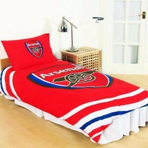 Arsenal F.C.  'Pulse ' Single Duvet Cover Bedding Set Reversible Quilt Cover