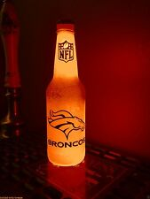 NFL Denver Broncos Football 12 oz Beer Bottle Light LED Bar Man Cave Manning btc