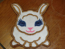 Embroidered Magnet - Easter - Felt Bunny