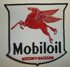 "Mobil Mobiloil Pegasus Oil Patch~Car Auto~3 1/4"" x 3 1/8""~Iron Sew~Ships FREE"
