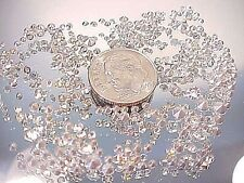 TINY SMALL PRECIOSA CLEAR & AB CRYSTAL CZ RHINESTONES LOT REPAIR JEWELRY DESIGN