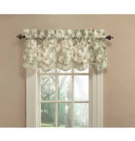 """WAVERLY Spring Bling Window Valance 52 x 18"""" Blue/Gray/Green/Taupe/Gold Platinum"""