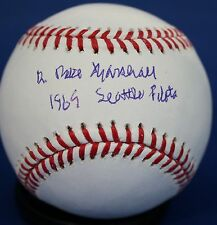 """Signed Dr. Mike Marshall """"1969 Seattle Pilots"""" Official Major League Baseball"""