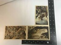 Crystal Cave, Pa Vintage Linen Lot of 3 Post Cards C-4, C-7 & C-9 Unposted