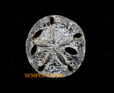 SILVER SAND DOLLAR PIN US ARMY MARINES NAVY AIR FORCE