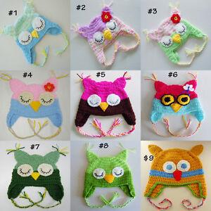 Custom Crochet Owl Hat Beanie Photo Prop From Newborn to Adult