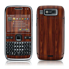Nokia E72 Skin Cover Case Decal Dark Rosewood Grain