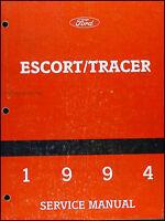 1994 Ford Escort  Mercury Tracer Shop Manual Original Repair Service Book OEM