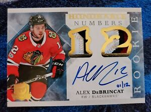 17-18 Alex Debrincat The Cup Rookie Honorable Numbers 3clr Patch Auto #1/12