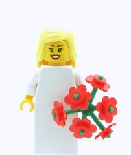 LEGO Wedding Blonde Bride Minifig with Large Bouquet Flowers Girl Minifigure NEW