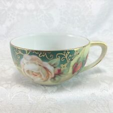 RS Germany Cup Only White Red Roses (No Saucer)