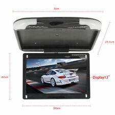 US 1X 13'' Wide LCD TFT Car Ceiling Flip Down Monitor Auto Roof Mount TV Black