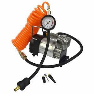 12v Heavy Duty Electric Air Compressor Portable Tyre Inflator Clip Battery TE336