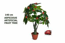 ARTIFICIAL ARTISTIC AUSPICIOUS FRUIT FAKE TREE FICUS BUSH,DARK GREEN,140CM