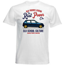 VINTAGE FRENCH CAR RENAULT WILLIAMS CLIO - NEW COTTON T-SHIRT