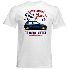 VINTAGE Francese AUTO RENAULT CLIO WILLIAMS-NUOVO T-shirt di Cotone