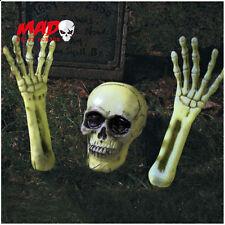 Scheletro Tomba Breaker GLOW IN THE DARK-Halloween Decorazione Cimitero all'aperto
