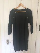 Ladies Jaegar Dark Grey / Charcoal Wool Jumper Dress Size Medium