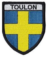 Patche ville Toulon écusson brodé transfert patch thermocollant armoiries blason