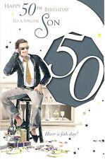 50 Tarjeta De Cumpleaños Para Hijo. Happy 50 Cumpleaños To A Special Hijo
